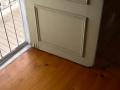 Issue: water damaged door